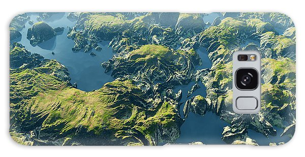 Travel Destinations Galaxy Case - Amazon River Birds Eye View by Dariush M
