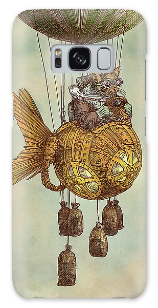 Vintage Galaxy Case - Around The World In The Goldfish Flyer by Eric Fan