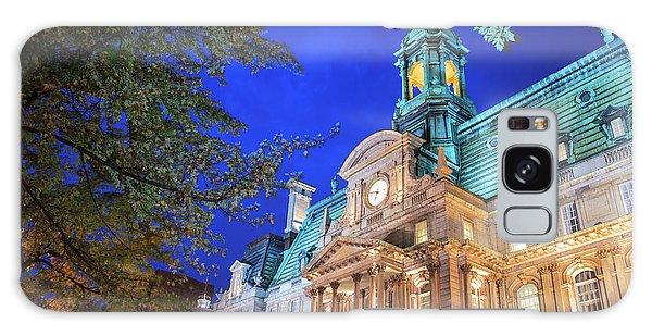Quebec City Galaxy Case - Autumn Colored Trees, Hotel De Ville by Stuart Westmorland