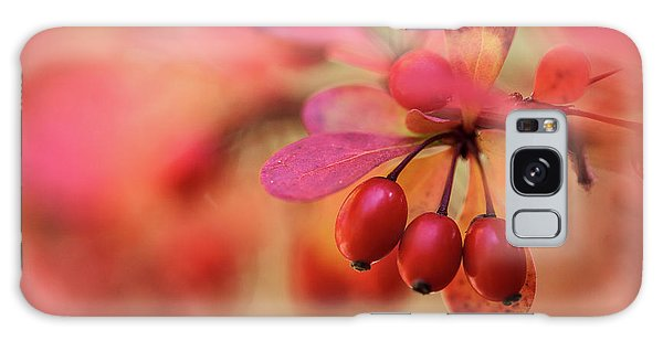 Green Leaf Galaxy Case - Autumn Colors by Nailia Schwarz