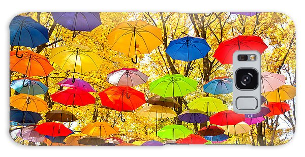 No People Galaxy Case - Autumn Umbrellas In The Sky by Oleksii Pyltsyn
