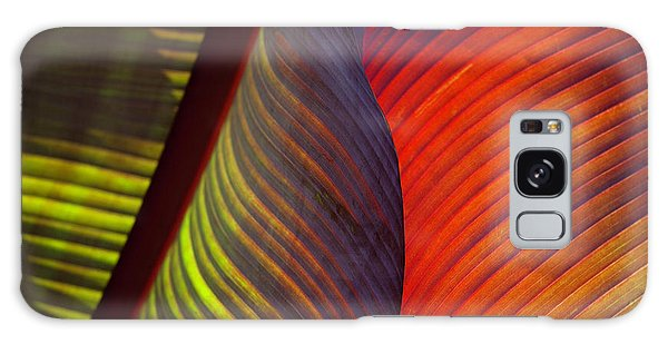 Galaxy Case featuring the photograph Banana Leaf 8602 by Mark Shoolery