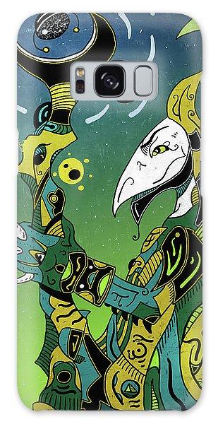 Galaxy Case featuring the digital art Birdman by Sotuland Art