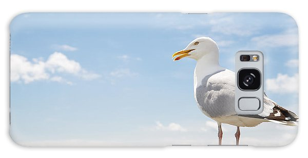 Seagulls Galaxy Case - Birds And Wildlife Concept - Seagull On by Syda Productions