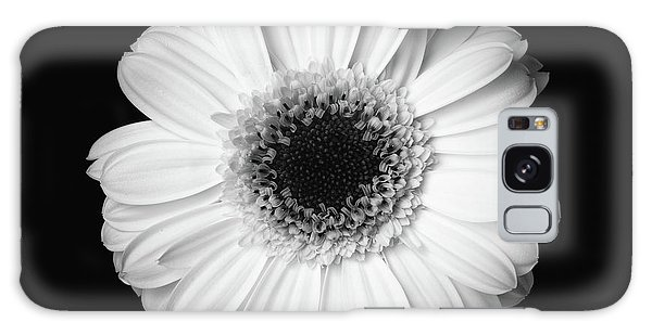 Black And White Flower Galaxy Case