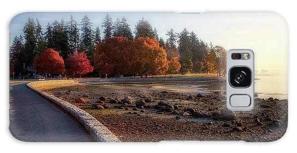 Colorful Autumn Foliage At Stanley Park Galaxy Case