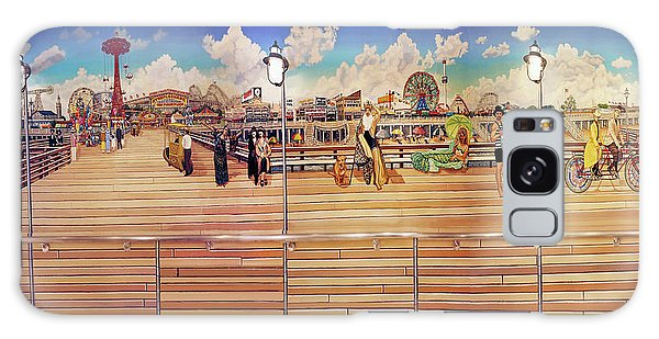 Coney Island Boardwalk Towel Version Galaxy Case