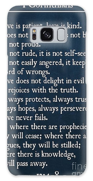 1 Corinthians 13 4-8- Inspirational Quotes Wall Art Collection Galaxy Case