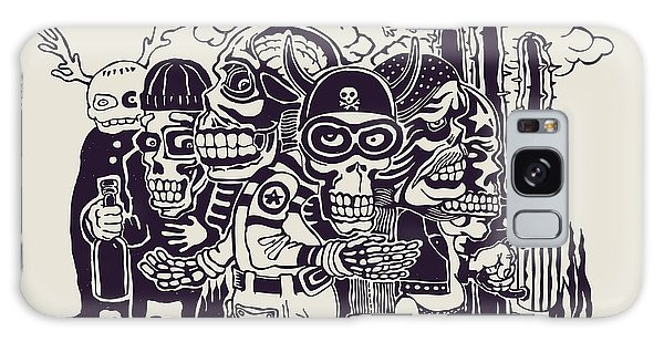 Mexican Galaxy S8 Case - Crazy Persons, Bikers, Skulls And by Jumpingsack