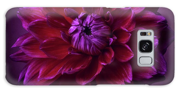 Galaxy Case featuring the photograph Dahlia 'purplicious' by Ann Jacobson
