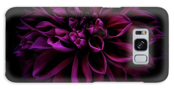 Galaxy Case featuring the photograph Dahlia 'thomas Edison' by Ann Jacobson