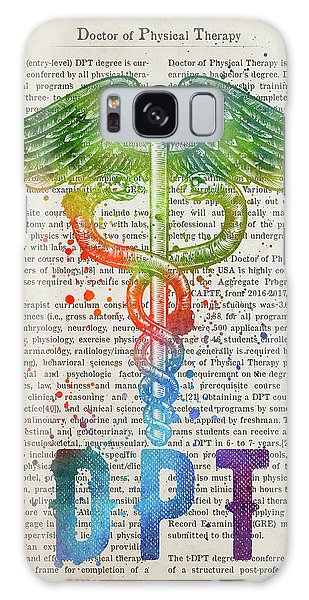Physical Galaxy Case - Doctor Of Physical Therapy Gift Idea With Caduceus Illustration  by Aged Pixel