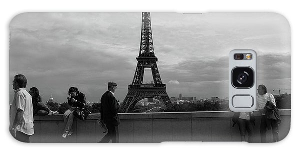 Galaxy Case featuring the photograph Eiffel Tower, Tourist by Edward Lee