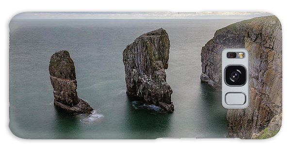 Sea Stacks Galaxy Case - Elegug Stacks - Wales by Joana Kruse