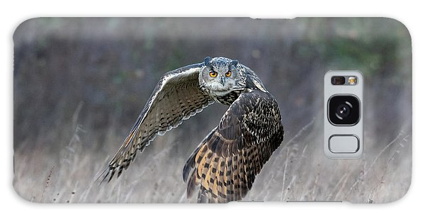 Eurasian Eagle Owl Flying Galaxy Case