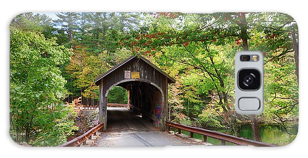 Fall Colors Over The Babs Covered Bridge Galaxy Case