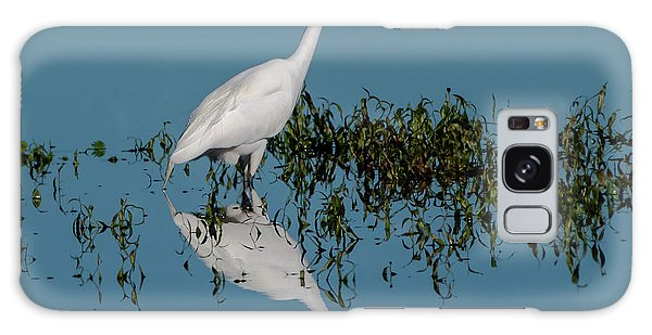 Galaxy Case featuring the photograph Great Egret by Ken Stampfer