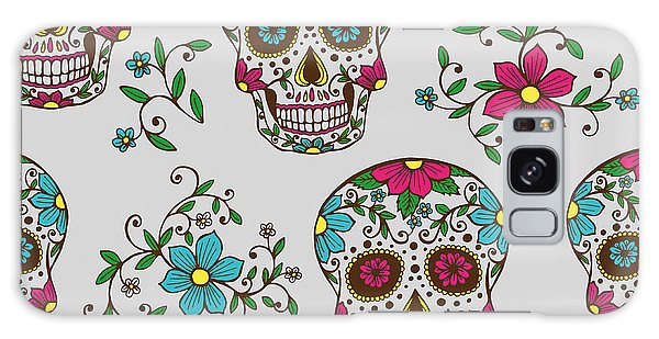 Death Galaxy Case - Hand Drawn Day Of The Dead Colorful by A bachelorette