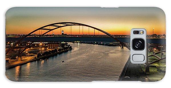 Galaxy Case featuring the photograph Hoan Bridge At Dusk by Randy Scherkenbach