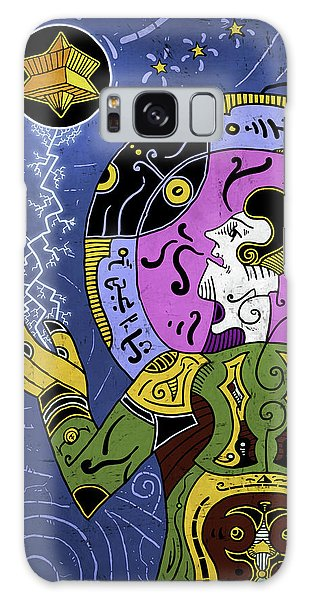 Galaxy Case featuring the digital art Incal by Sotuland Art