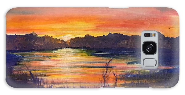 Lake Sunset  Galaxy Case