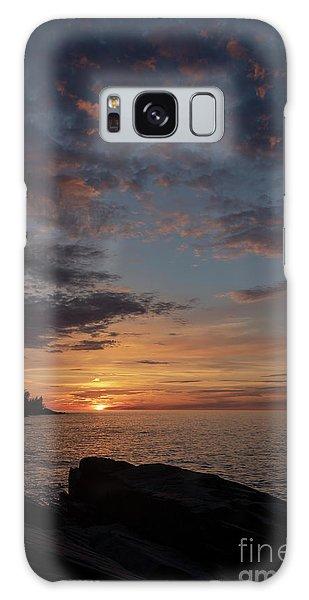 Lake Superior Sunset Galaxy Case