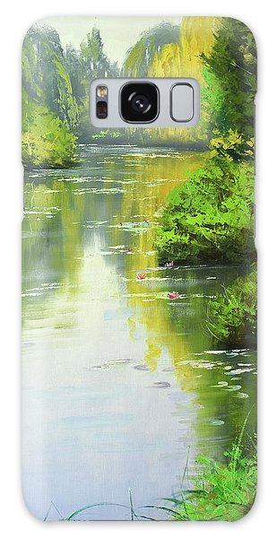 Stream Galaxy Case - lily Pond reflections by Graham Gercken
