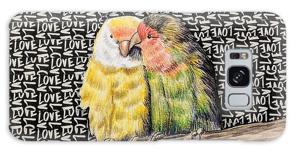 Galaxy Case - Love Birds by Rebecca Rodriguez