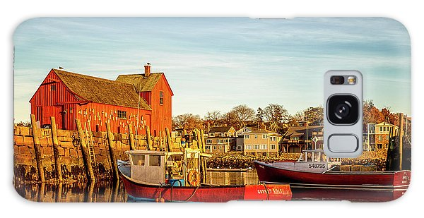 Low Tide And Lobster Boats At Motif #1 Galaxy Case
