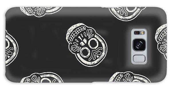 Death Galaxy Case - Mexican Skull Doodle Seamless Pattern by Hchjjl