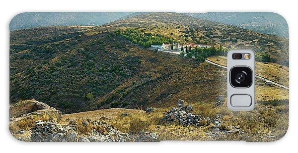 Monastery Agion Anargiron Above Argos Galaxy Case