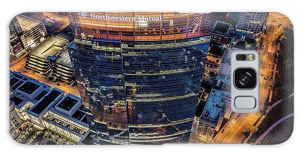 Galaxy Case featuring the photograph Northwestern Mutual Tower by Randy Scherkenbach