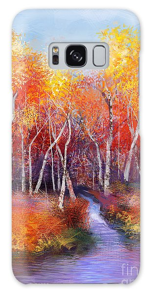 Semis Galaxy Case - Oil Painting Landscape - Colorful by Pluie r