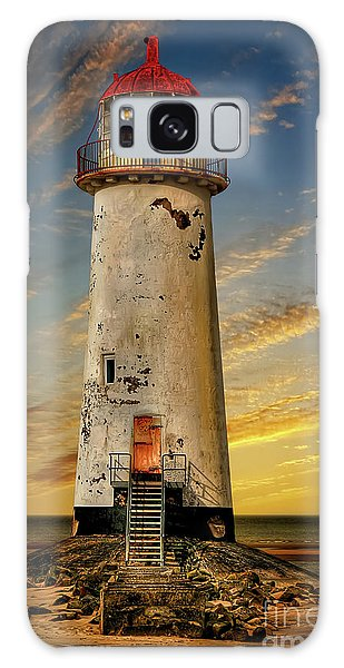 Galaxy Case - Point Of Ayr Lighthouse Sunset by Adrian Evans
