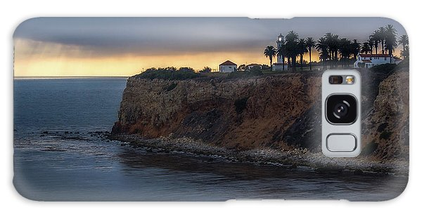 Point Vicente Lighthouse At Sunset Galaxy Case