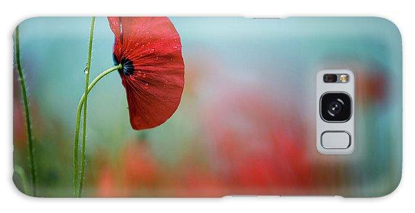 Soft Galaxy Case - Red Corn Poppy Flowers by Nailia Schwarz