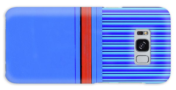 Blue With Red Stripe Galaxy Case