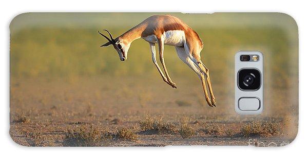 Plane Galaxy Case - Running Springbok Jumping High - by Johan Swanepoel