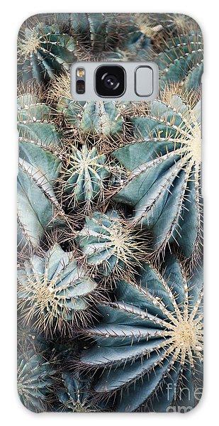 Desert Flora Galaxy Case - Rustic Macro Shot Of Cactus - Tropical by Naturephotography