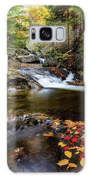 Sandwich Notch Road Waterfall New Hampshire Galaxy Case
