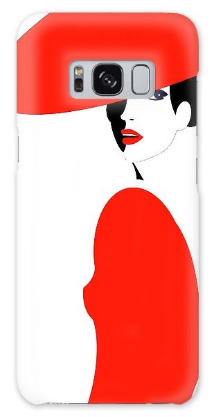 Galaxy Case - Scarlet Woman 1 by Digital Painting