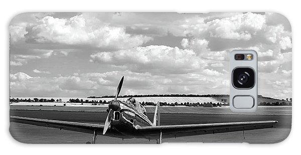 Silver Airplane Duxford England Galaxy Case