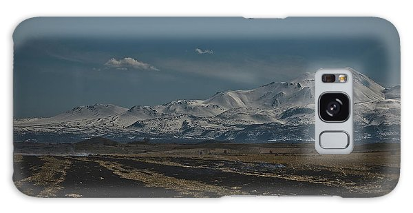Snow-covered Mountains In The Turkish Region Of Capaddocia. Galaxy Case