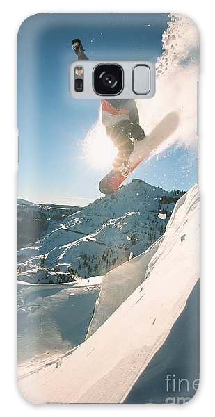 Pass Galaxy Case - Snowboarding Off A Cliff Off Piste On A by Donland