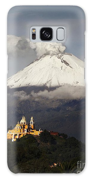 Mexican Galaxy S8 Case - Snowy Volcano And Church by Cristobal Garciaferro