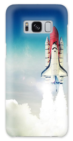 Technology Galaxy Case - Space Shuttle Taking Off On A Mission by Fer Gregory