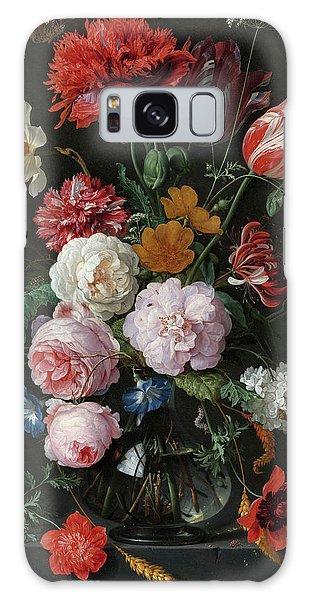 Jan Galaxy Case - Still Life With Flowers In A Glass Vase, 1683 by Jan Davidsz de Heem