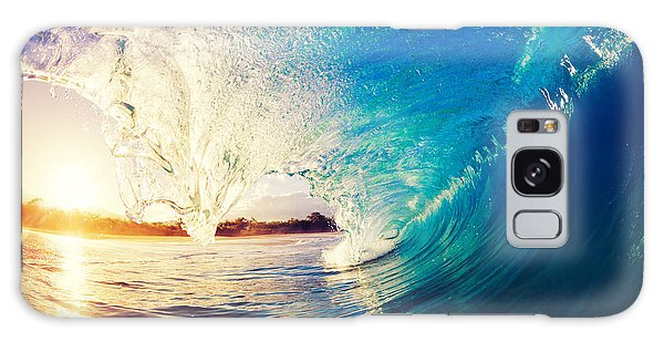 Tide Galaxy Case - Sunrise Wave, Tropical Island Atoll by Epicstockmedia