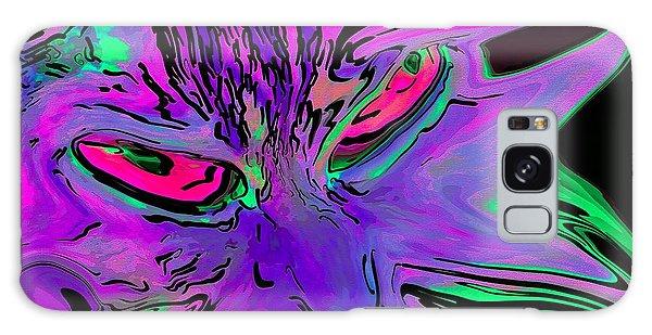 Super Duper Crazy Cat Purple Galaxy Case