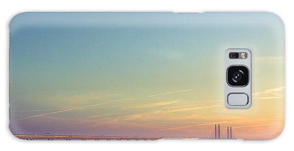 Shipping Galaxy Case - The Bridge Between Denmark And Sweden by Kimson